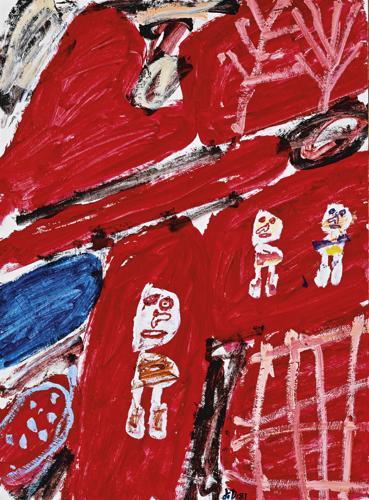 Jean Dubuffet-Site Avec Trois Personnages-1981