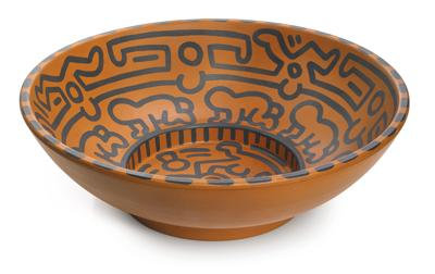 Keith Haring-Untitled (Terracotta dish)-1989