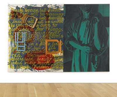 David Salle-Shower Of Courage (Diptych)-1985
