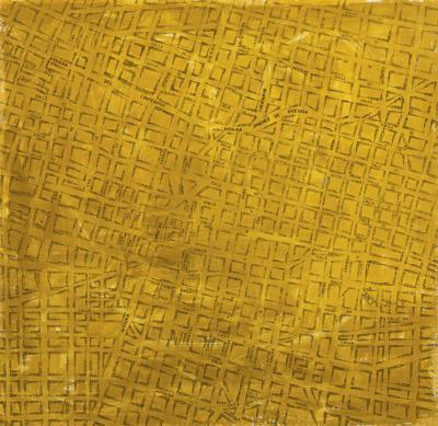 Guillermo Kuitca-Mainline Grid-1991