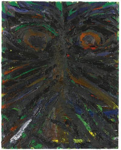 Mark Grotjahn-Untitled (Butterfly Face)-2003