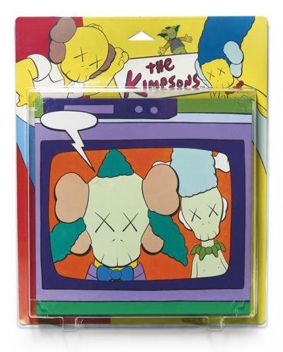 KAWS-Untitled (Kimpsons) (Package Painting Series)-2002