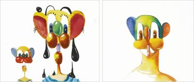 George Condo-Untitled (Two Works)-1996
