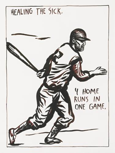 Raymond Pettibon-Baseball: Healing The Sick. 4 Home Runs In One Game-1987