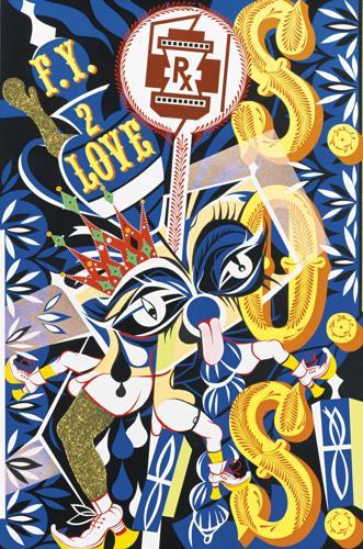 Lari Pittman-A Decorated Chronology Of Insistence & Resignation (Untitled #20)-1993