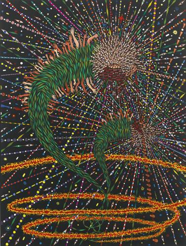 Fred Tomaselli-Study For Monsters Of Paradise Times Two-2002