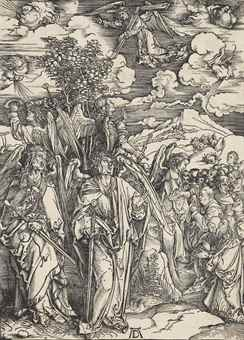 Albrecht Durer-The Four Angels Holding The Winds, From: The Apocalypse-1498