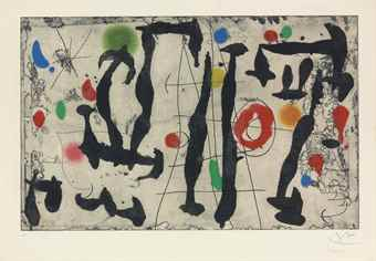 Joan Miro-Trace Sur La Paroi IV-1967