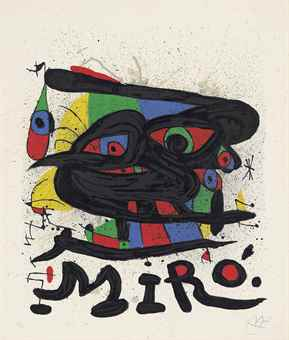 Joan Miro-Sculptures; Two Plates, from: Cartones-1971