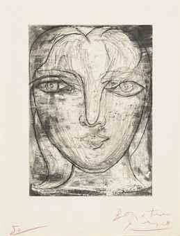 Pablo Picasso-Tete De Face (Portrait De Marie-Therese De Face)-1934