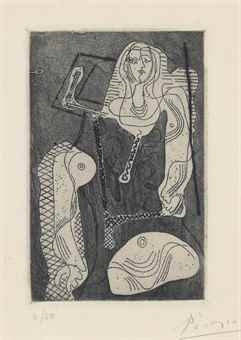 Pablo Picasso-Femme, The Frontispiece For: Picasso Oeuvres 1920-1926-1923