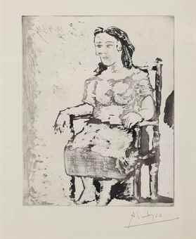 Pablo Picasso-Femme Au Fauteuil: Dora Maar-1939