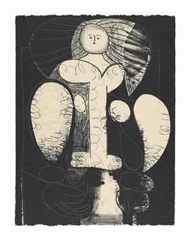 Pablo Picasso-Femme Au Fauteuil No. 2-1948
