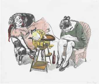 Paula Rego-Feeding Time, From: O Vinho (Wine)-2007