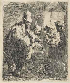 Rembrandt van Rijn-The Strolling Musicians-1635