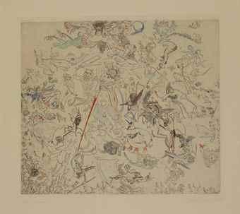 James Ensor-Diables Rossant Anges Et Archanges-1888