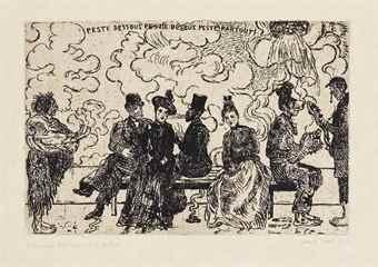 James Ensor-Peste Dessous, Peste Dessus, Peste Partout-1904