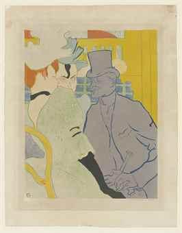 Henri de Toulouse-Lautrec-Henri De Toulouse-Lautrec - L'Anglais Au Moulin Rouge-1892