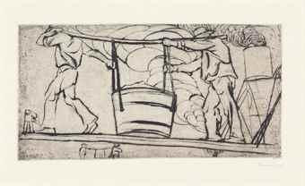 Umberto Boccioni-Scaricatori Di Carbone-1907
