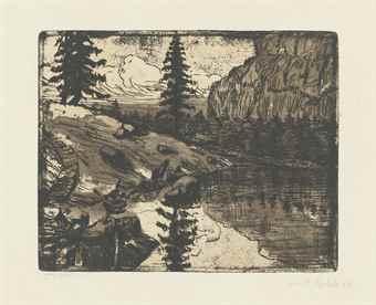 Emil Nolde-Alpensee-1906