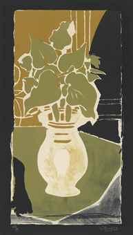 Georges Braque-Feuilles Couleur Lumiere-1954