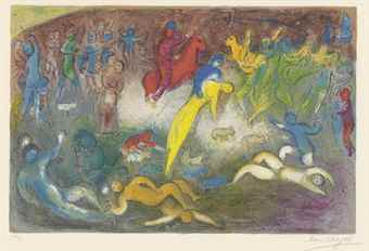 Marc Chagall-Enlevement De Chloe, From: Daphnis And Chloe-1962
