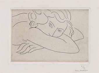 Henri Matisse-Jeune Femme Le Visage Enfoui Dans Les Bras-1929