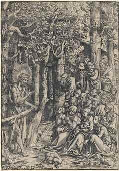 Lucas Cranach The Elder-Saint John Preaching In The Wilderness-1516