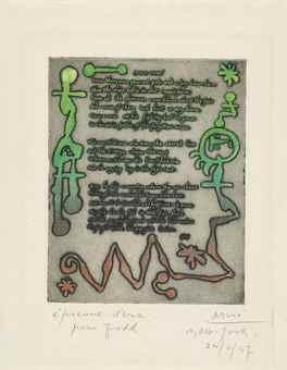 Joan Miro-Joan Miro 1937, From: The Ruthven Todd Album-1947