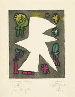 Joan Miro-Untitled, From: L'Antitete-1947