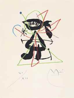 Joan Miro-Untitled, From: La Bague D'Aurore-1957