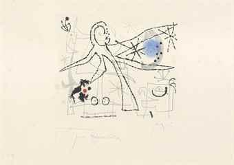 Joan Miro-L'Oiseau Dresse-1960