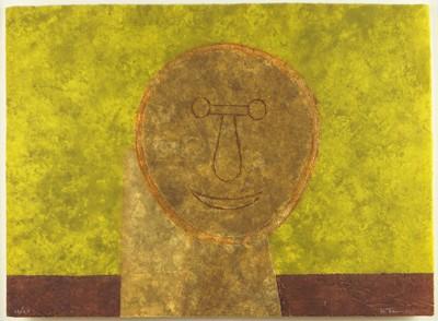 Rufino Tamayo-Cabeza Sobre Fondo Verde-1979