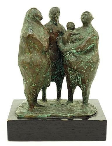 Francisco Zuniga-Grupo De Tres Figuras Con Nino-