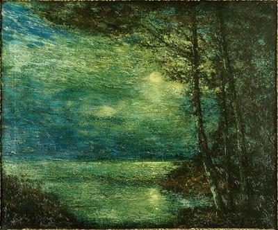 Hudson Mindell Kitchell-Moonlit Landscape-1918