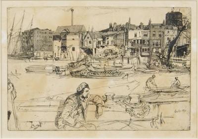 James Abbott McNeill Whistler-Black Lion Wharf-1859