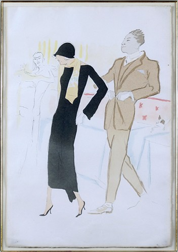 Artist Unknown - an Art Deco Couple-