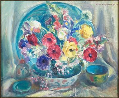John Hubbard Rich-Still Life with Flowers-