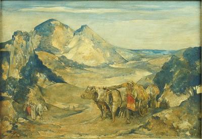 Willem Van Den Berg-Oxcart in the Tyrol-1955