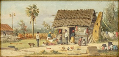 William Aiken Walker-Untitled - Family Outside of a Cabin-