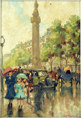Paul Rainier - Parisian Street Scene-