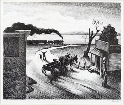 Thomas Hart Benton-Edge of Town-1938