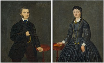 American School - Two Wedding Portraits-