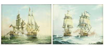 John Bentham Dinsdale-Two Seascapes-