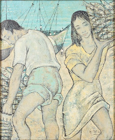 M. Duval-Two Figures-