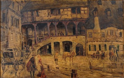 Theodor Lindner-Untitled Street Scene-1907