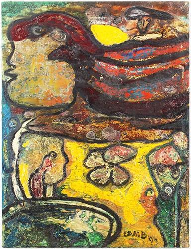 Matt Lamb-Untitled Abstract-1994