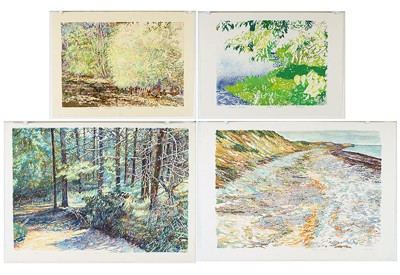Dan Ziembo-Four Color Lithographs: Including 'Grand Island', 'Canon Hill Pathway', 'Focus', and 'Counterpoint'-