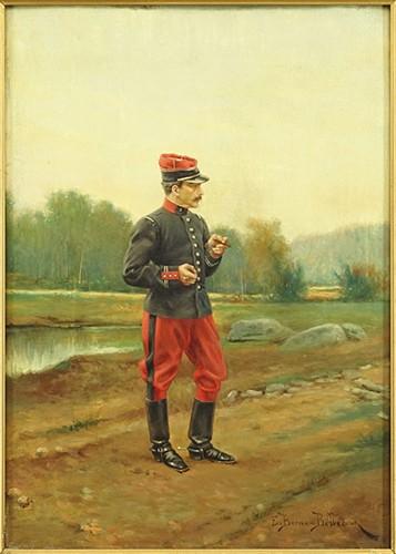Etienne Prosper Berne-Portrait of a French Officer-