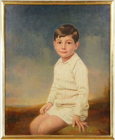 Joshua Smith-Portrait of a Young Boy-1929